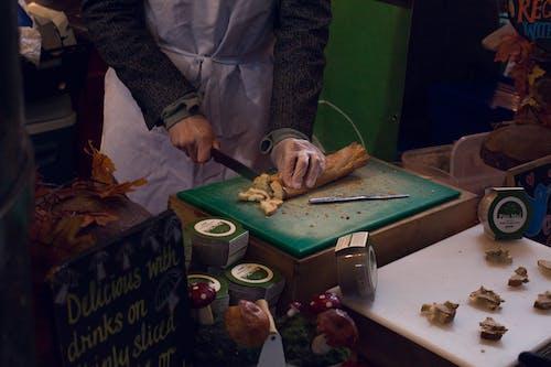 グリーンまな板, スライスパン, フード, ロンドン自治区マーケットをスライスするパンの無料の写真素材