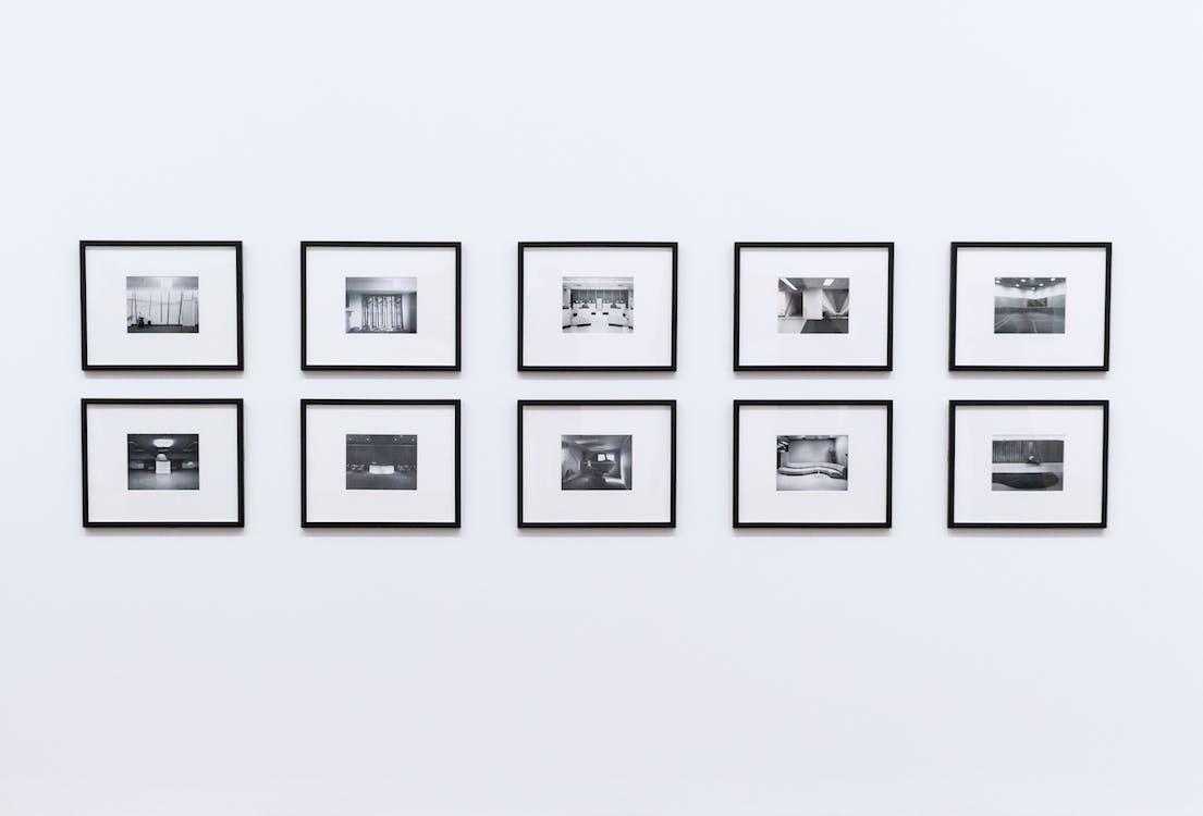 bílá stěna, černobílá, design