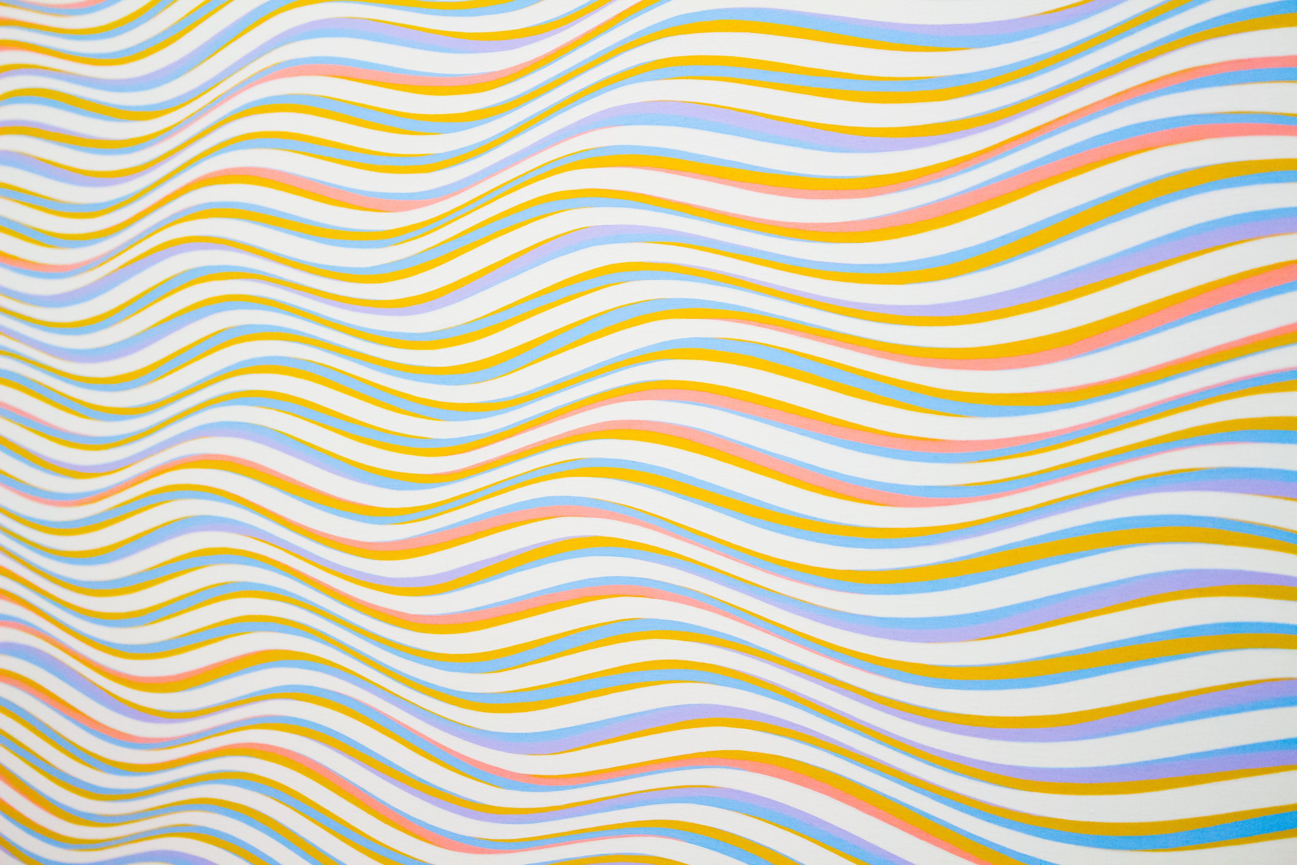 Assorted-color Striped Illustration