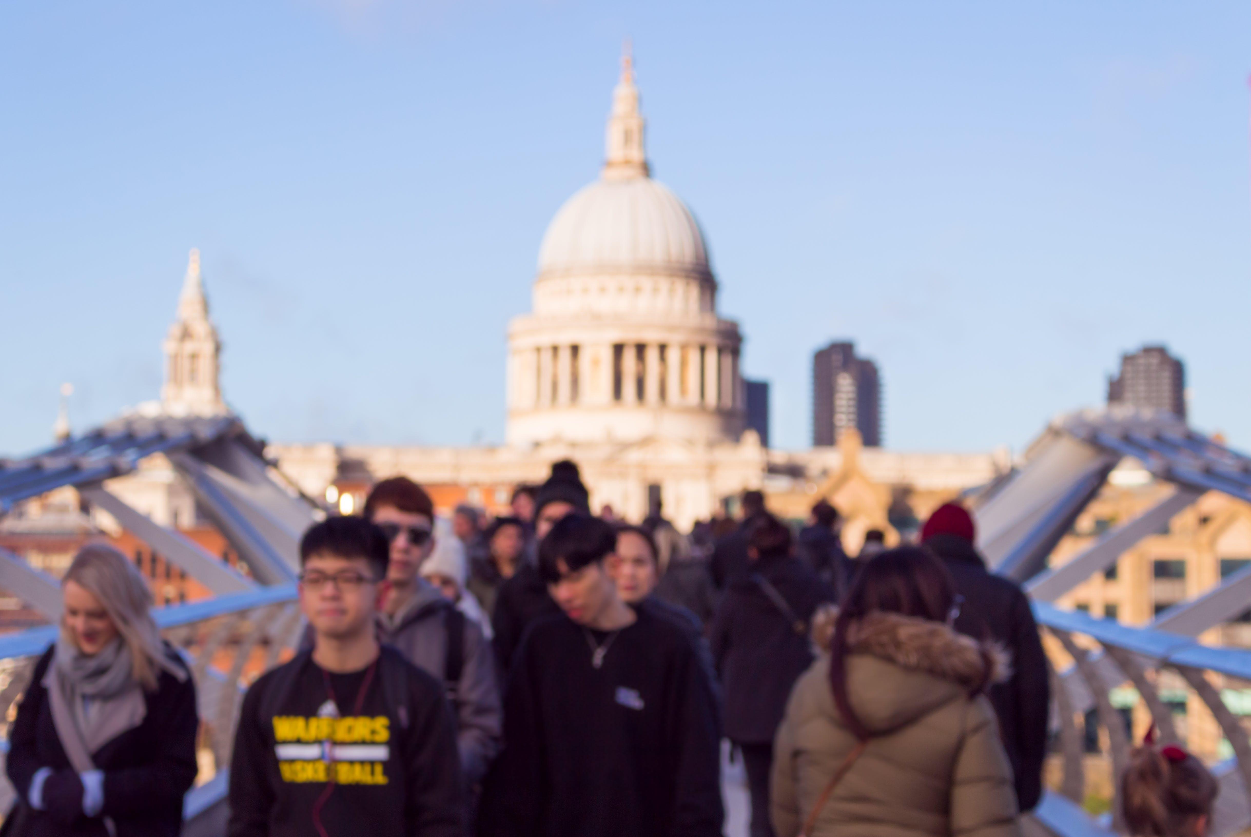 People Walking on Landmark