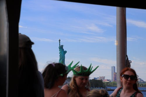 Free stock photo of ferry, people, Statue of Liberty