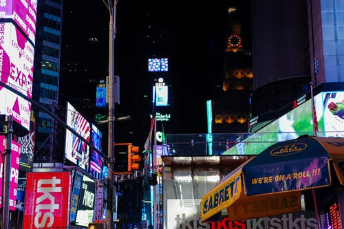Free stock photo of new york, signs, times square
