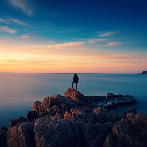 Ảnh lưu trữ miễn phí về biển, bình minh, bóng, cảnh biển