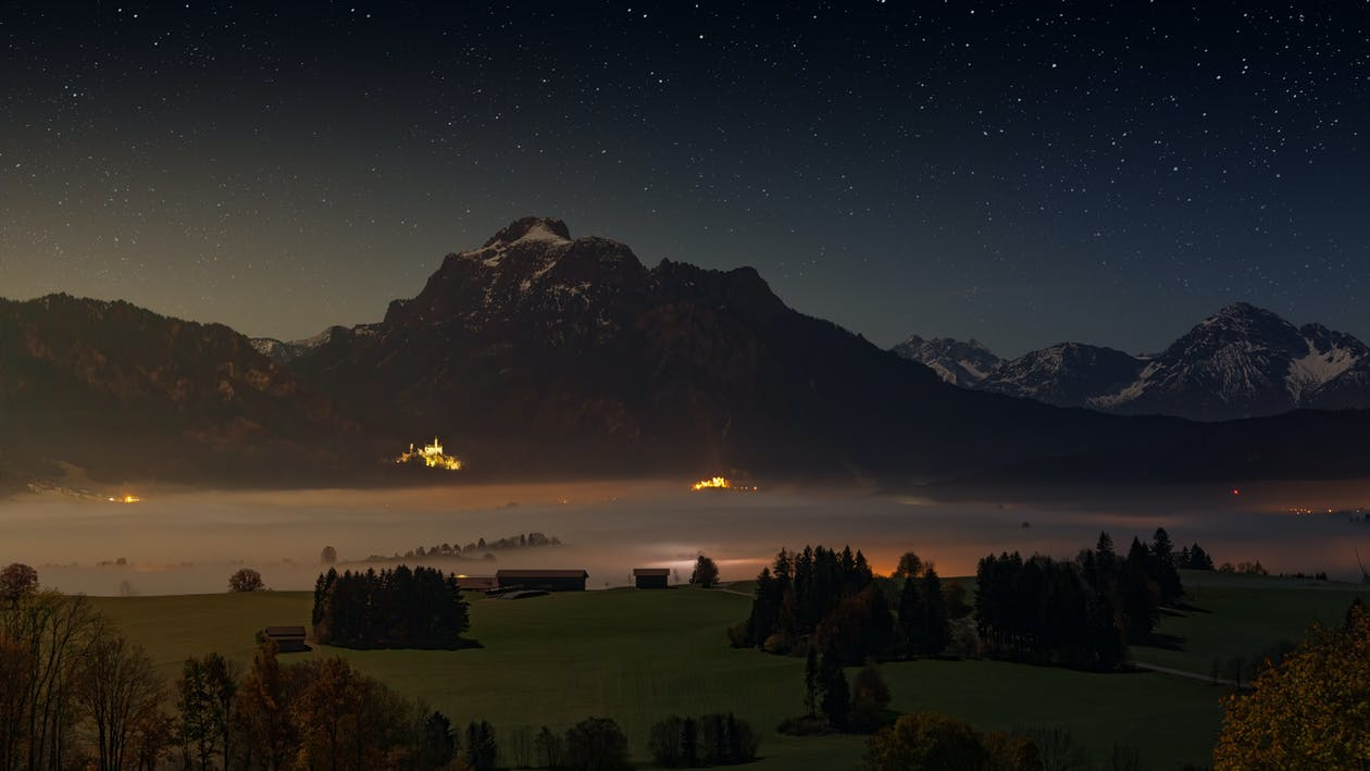 Scenic Photo Of Alps During Night