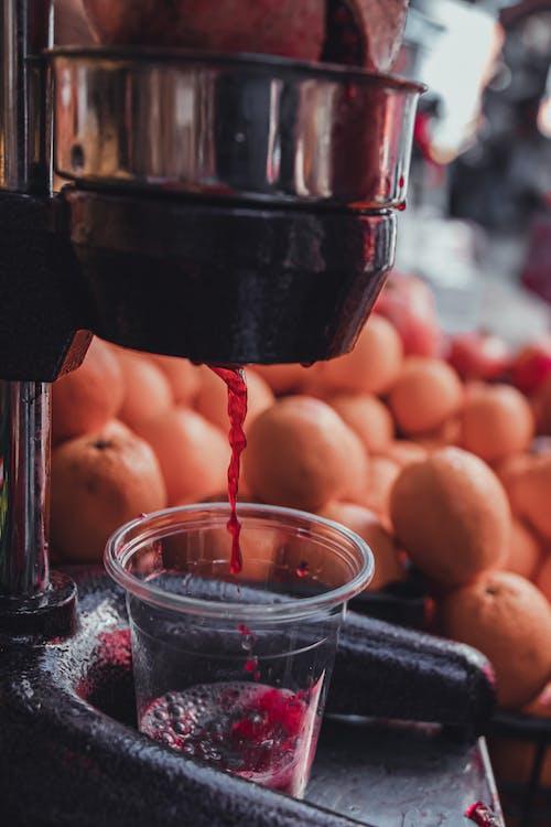 Free stock photo of bokeh, carrot juice, fruit juice, glass of juice