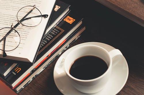 咖啡, 咖啡因, 喝, 圖書 的 免費圖庫相片