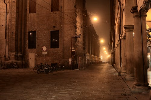 Free stock photo of alley, bologna, evening, italy