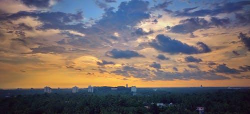 Immagine gratuita di atmosfera serale, cielo di sera, sera, sole della sera