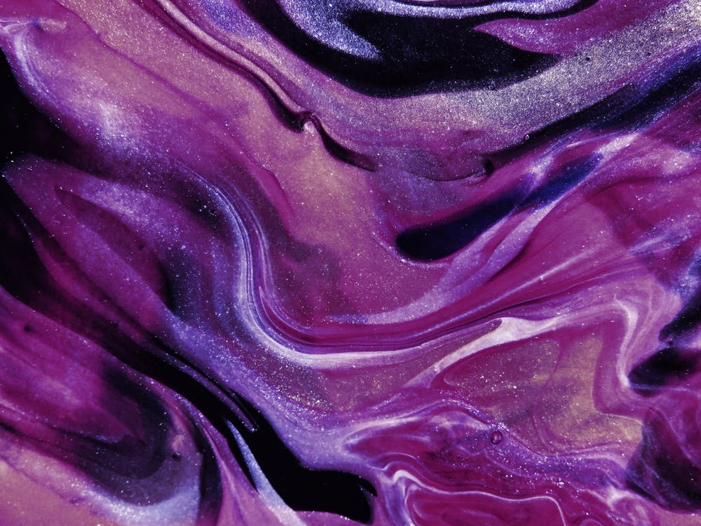 Purple Abstract Art