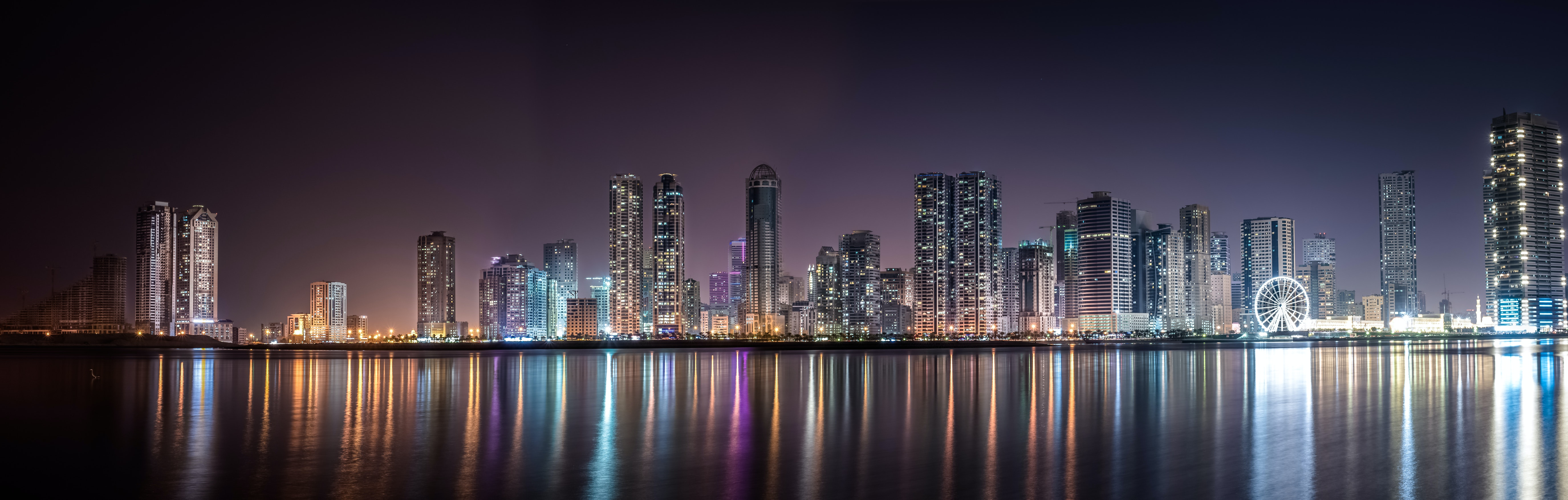 Photographing Cities At Night: Panoramic View Of City Lit Up At Night · Free Stock Photo