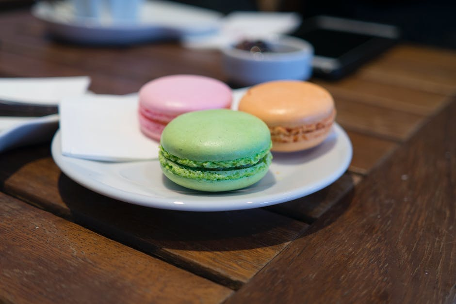 Close up of macaroons