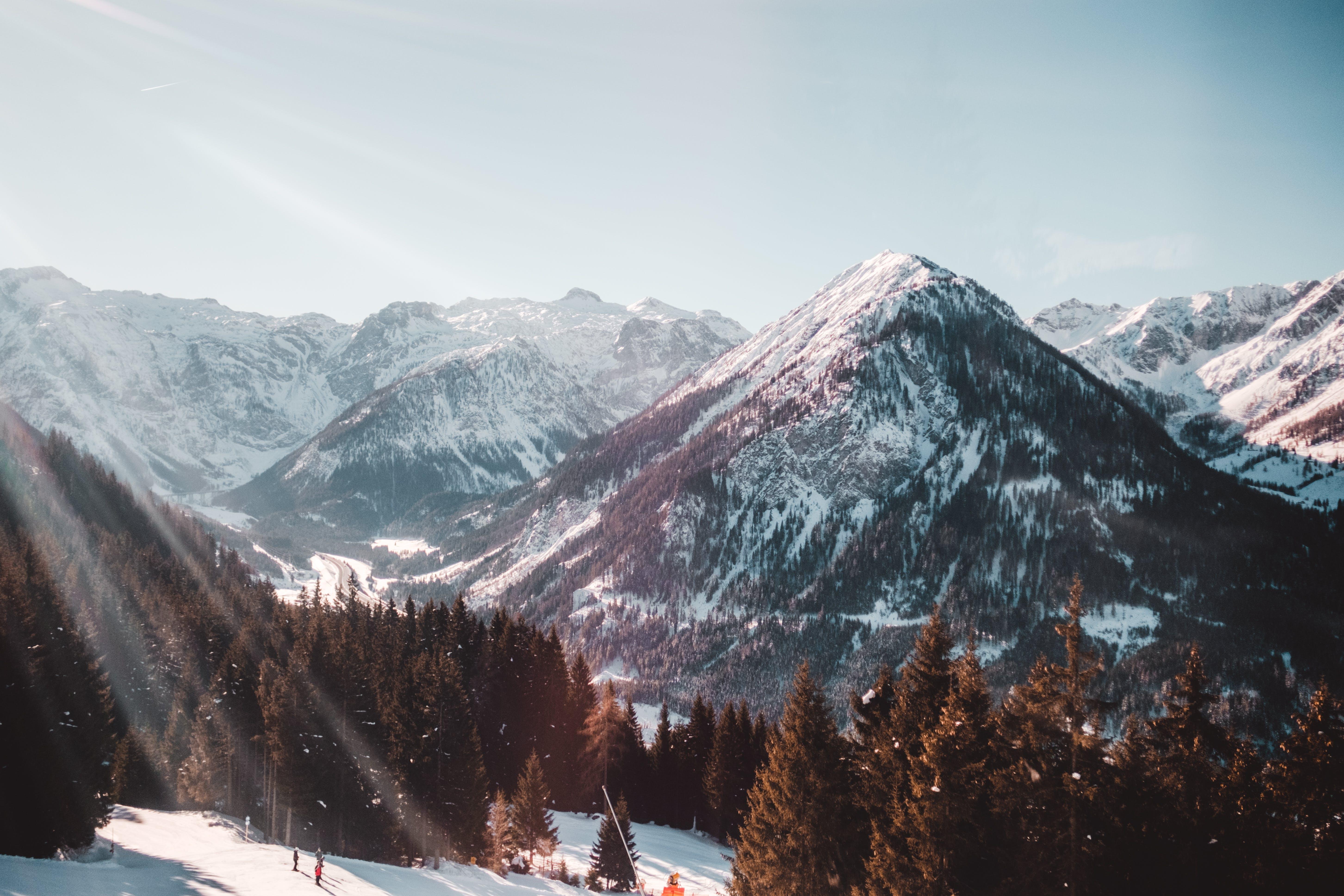 frost, landscape, mountain