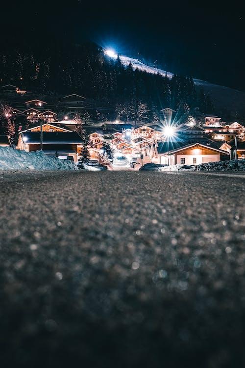 下坡, 光, 光束, 冬季 的 免费素材照片