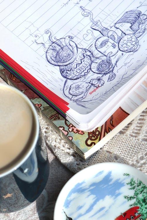 Základová fotografie zdarma na téma blok, hrnčířství, hrnek, hrnek na kávu