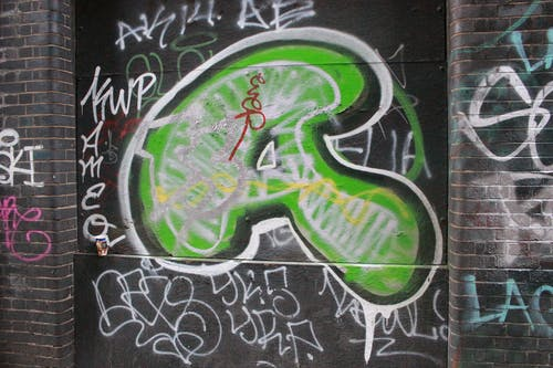 Free stock photo of a, alphabet, brick wall, graffiti