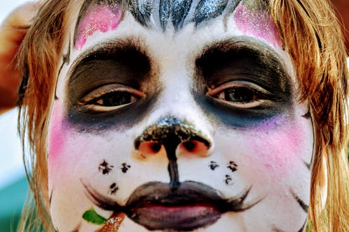Free stock photo of child, colourful, face paint, Panda