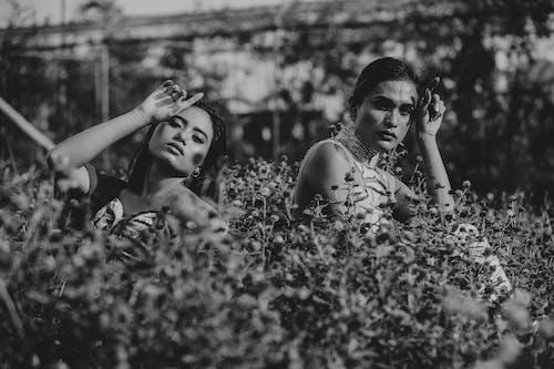 Imagine de stoc gratuită din alb-negru, centrale, femei, femei asiatice