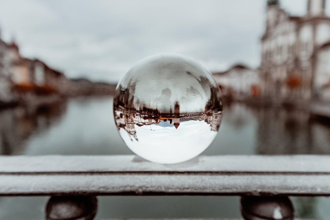 Photos gratuites de Boule de cristal, fleuve, macro
