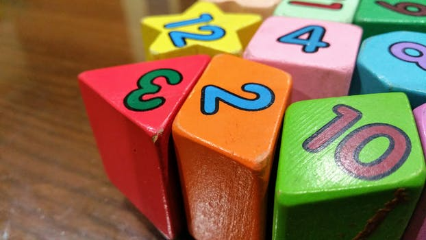 Free stock photo of blur, colorful, colourful, numbers