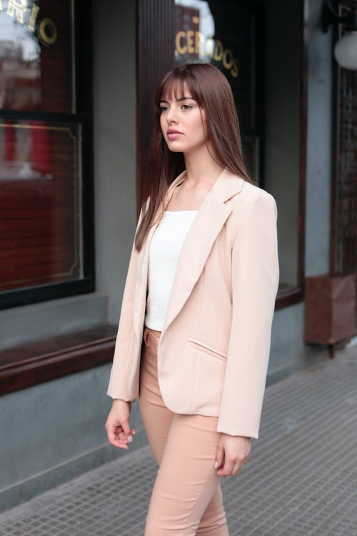 Photo Of Woman Wearing Pink Coat