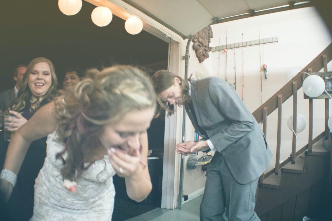 amuzant, nuntă, tort