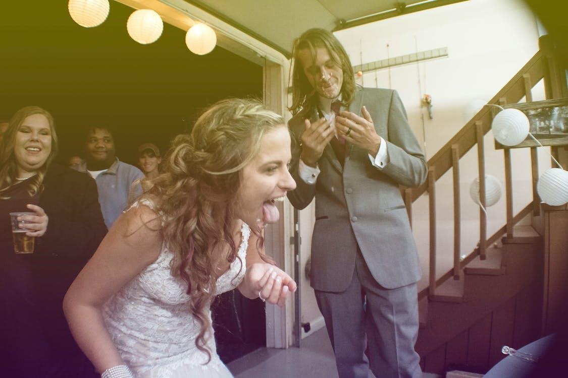 bride, cake, crazy
