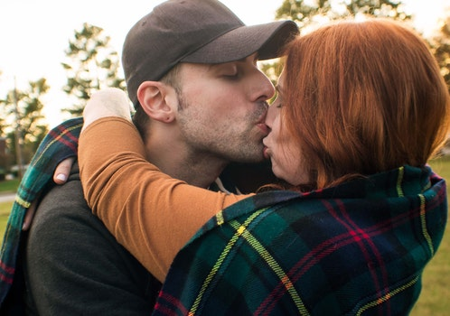 Free stock photo of couple, love, kiss, hug