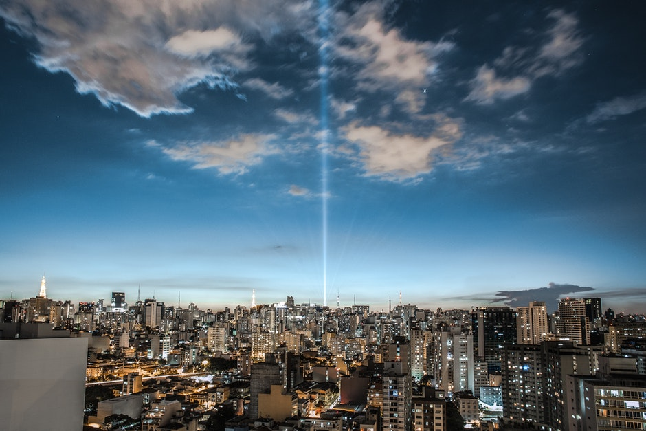 abend, architektur, bewölkter himmel