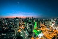 city, sky, sunset