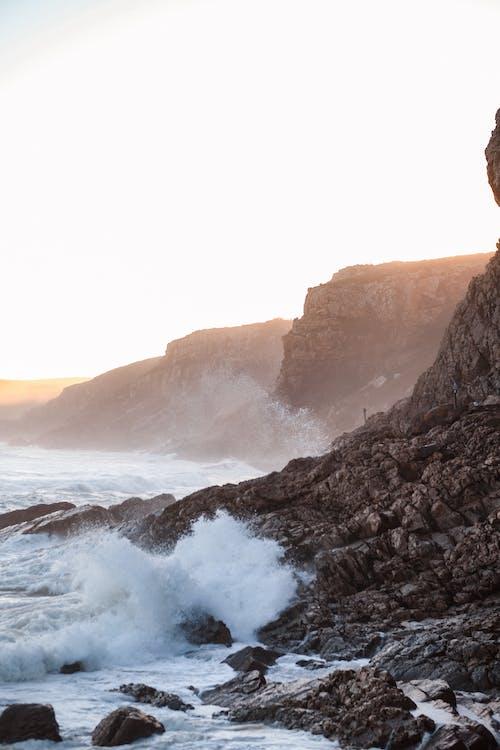 Waves Breaking on Rocky Shore
