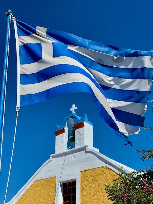 Ảnh lưu trữ miễn phí về bầu trời, bay, cờ, cờ grecian