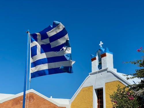 Ảnh lưu trữ miễn phí về bầu trời, bay, cờ grecian, cờ hy lạp