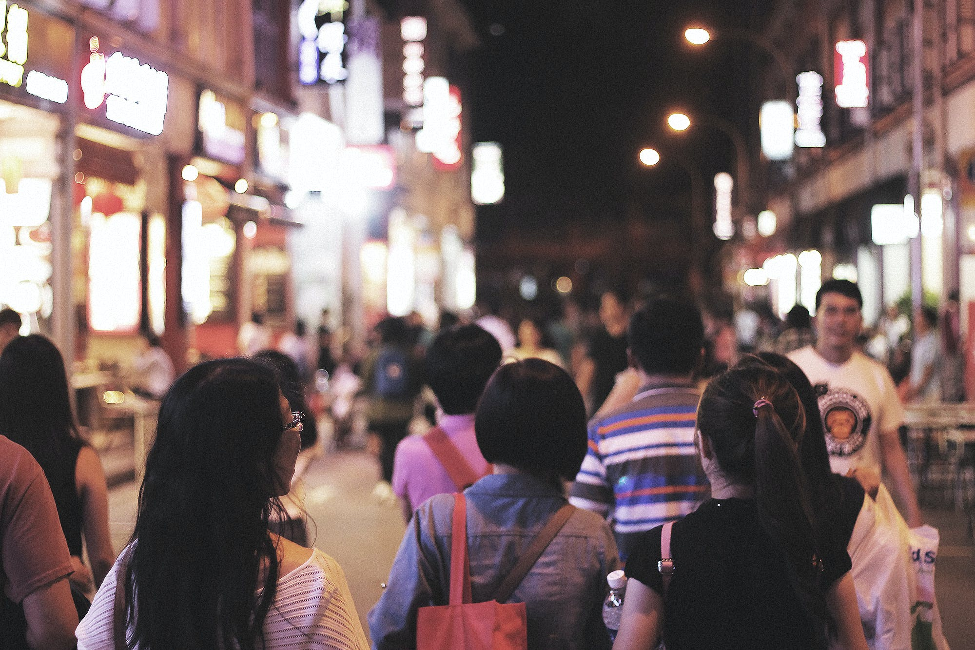 Free stock photo of streets, people, night, street