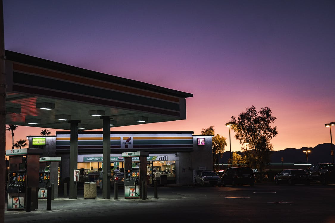 7-Eleven Store Photo During Sunset