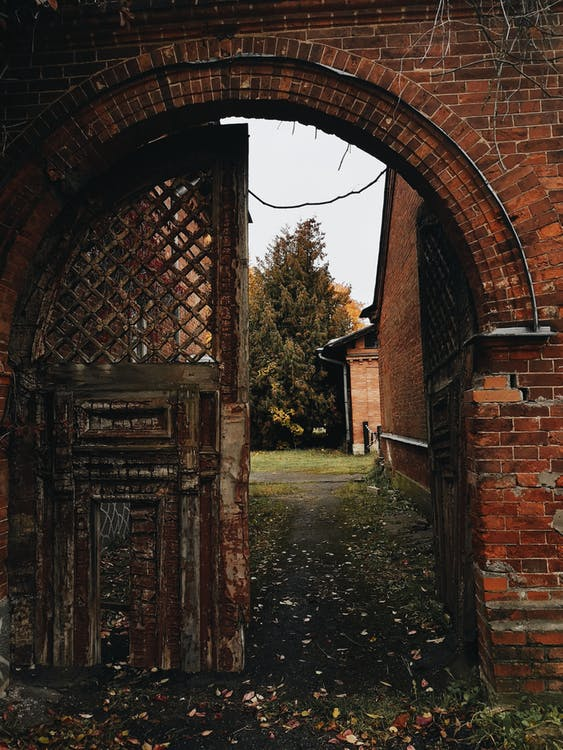 Brown and Beige Door