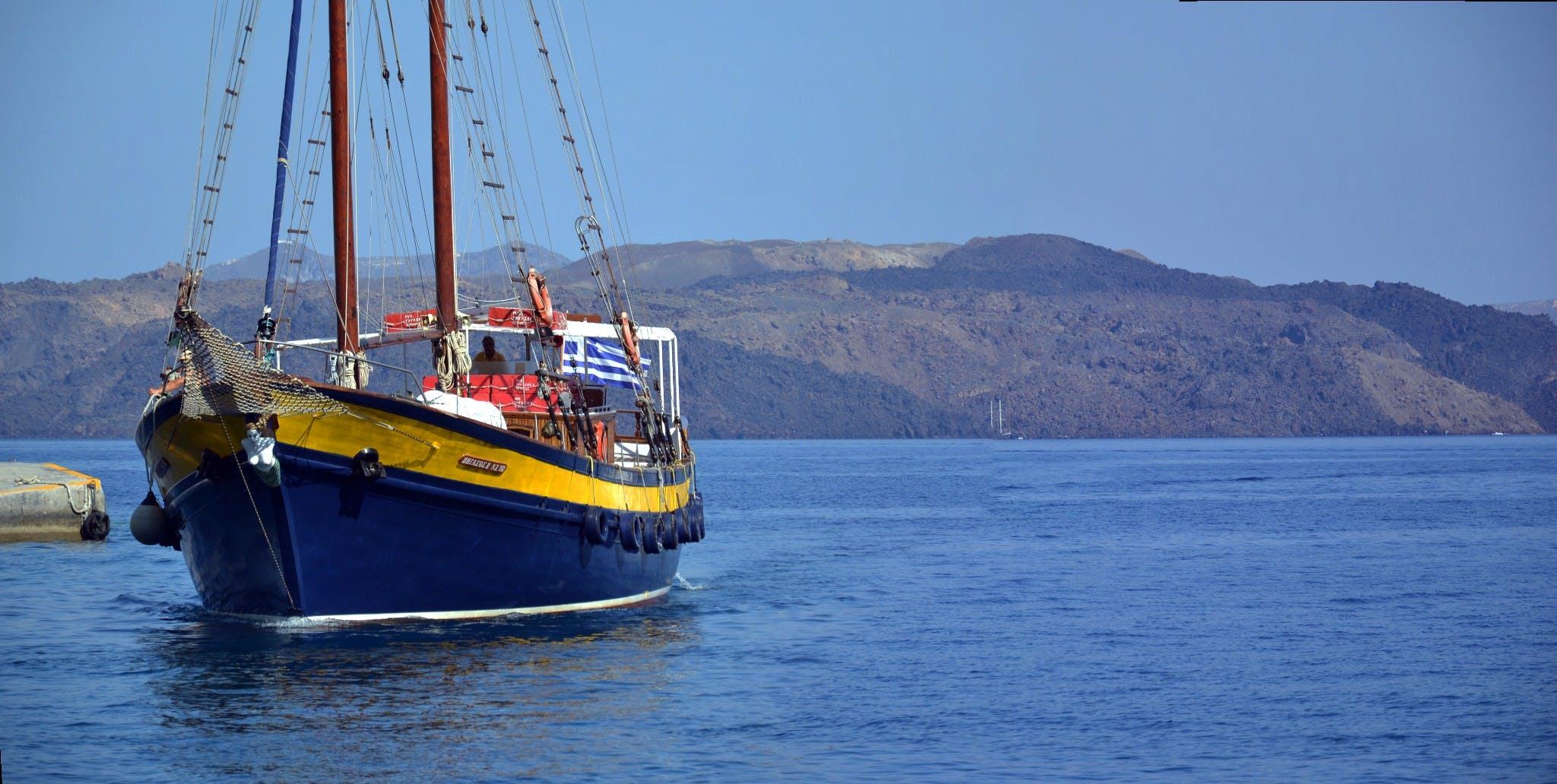 Free stock photo of boat, greece, mediterranean sea, santorini
