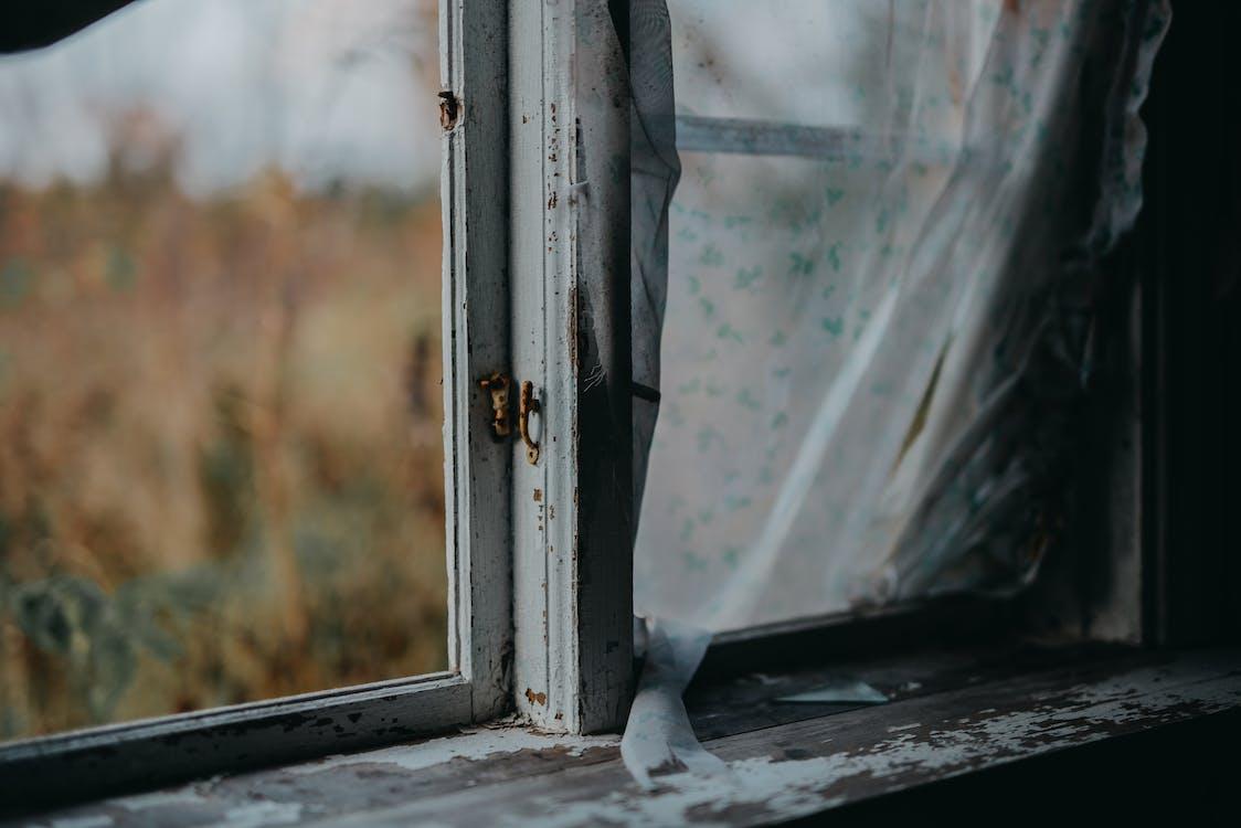 White Framed Clear Glass Window
