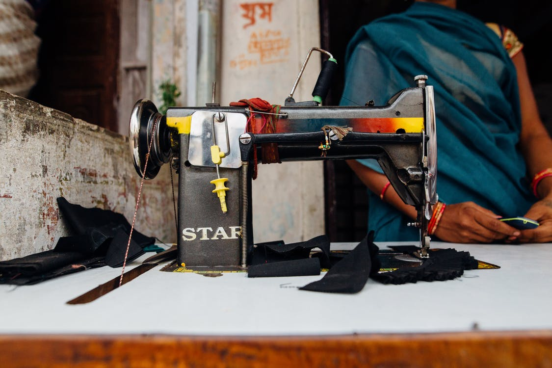 Black and Grey Star Sewing Machine