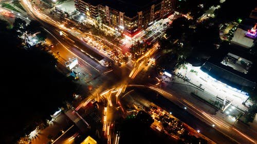 Time Lapse Photography Of Road During Night