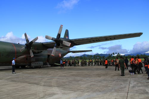 Free stock photo of airfields, hercules, indonesian military aircraft