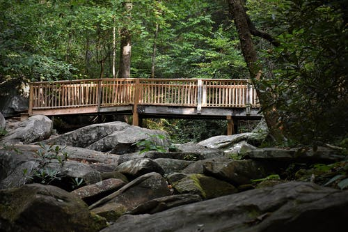 Free stock photo of bridge, rocks
