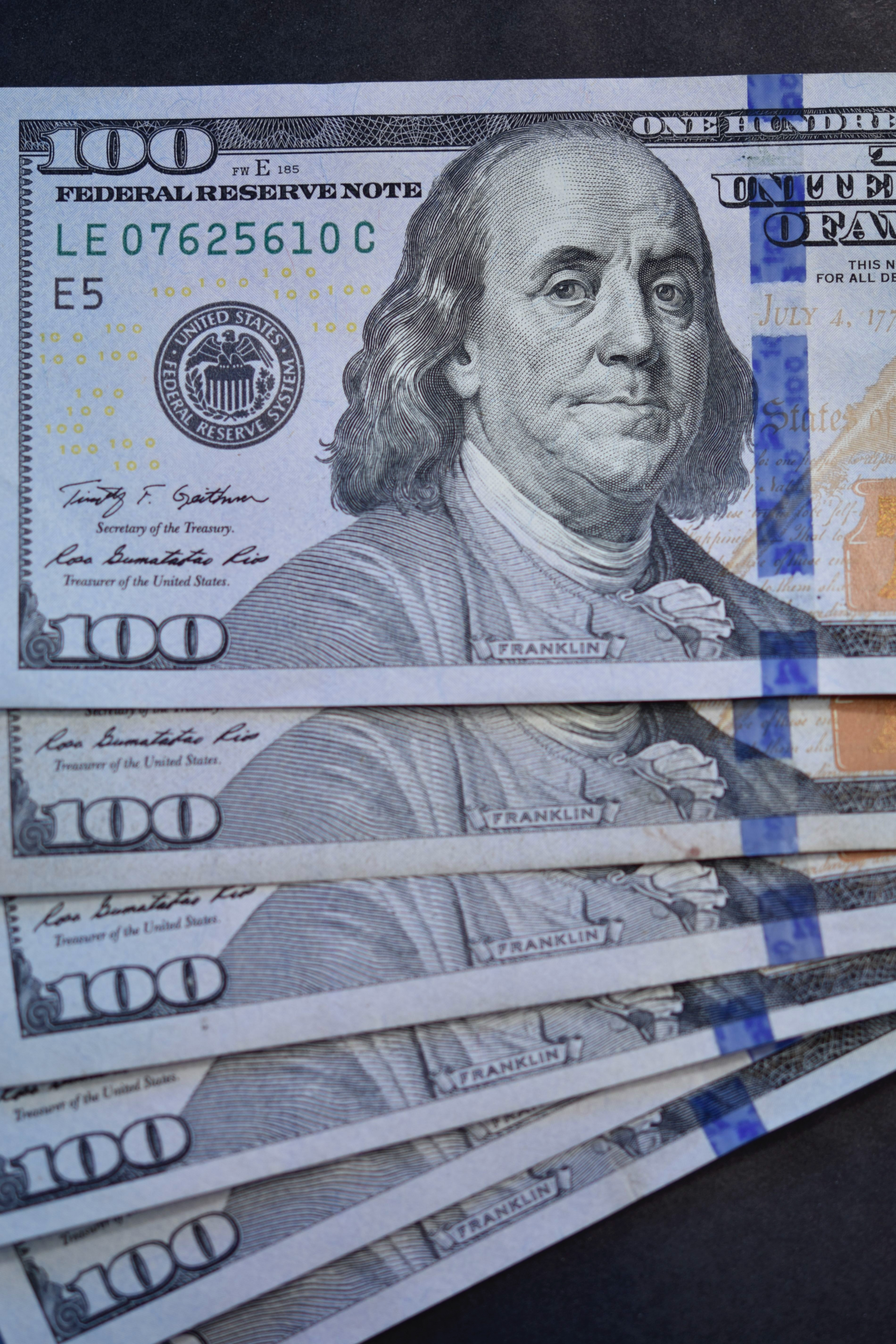 Free Stock Photo Of Currency Hundred Dollar Bills Money