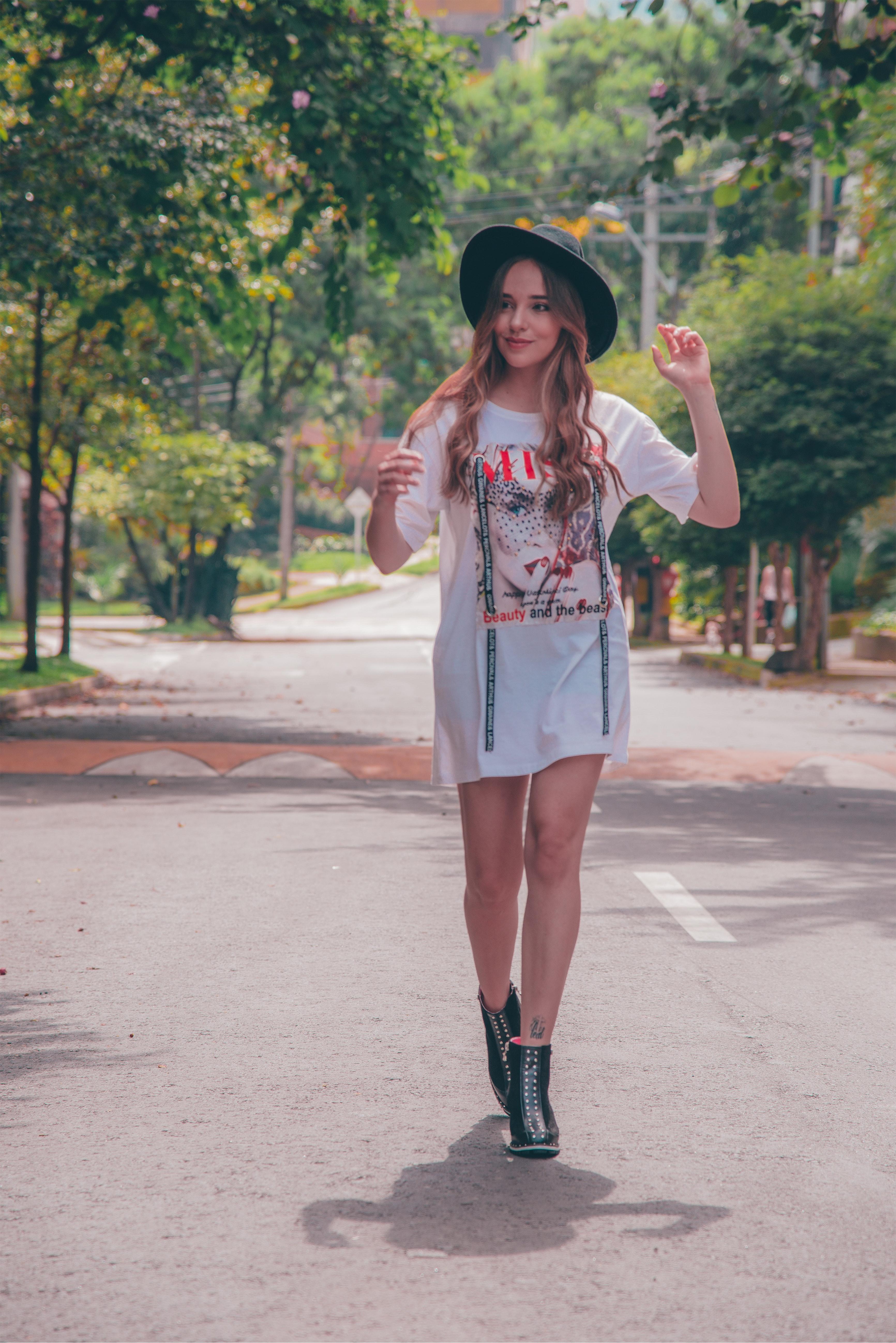 Sexy Blonde Woman Walking Away — Stock Photo © brickrena