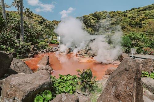 Free stock photo of beppu, hot spring, pink, sulfur