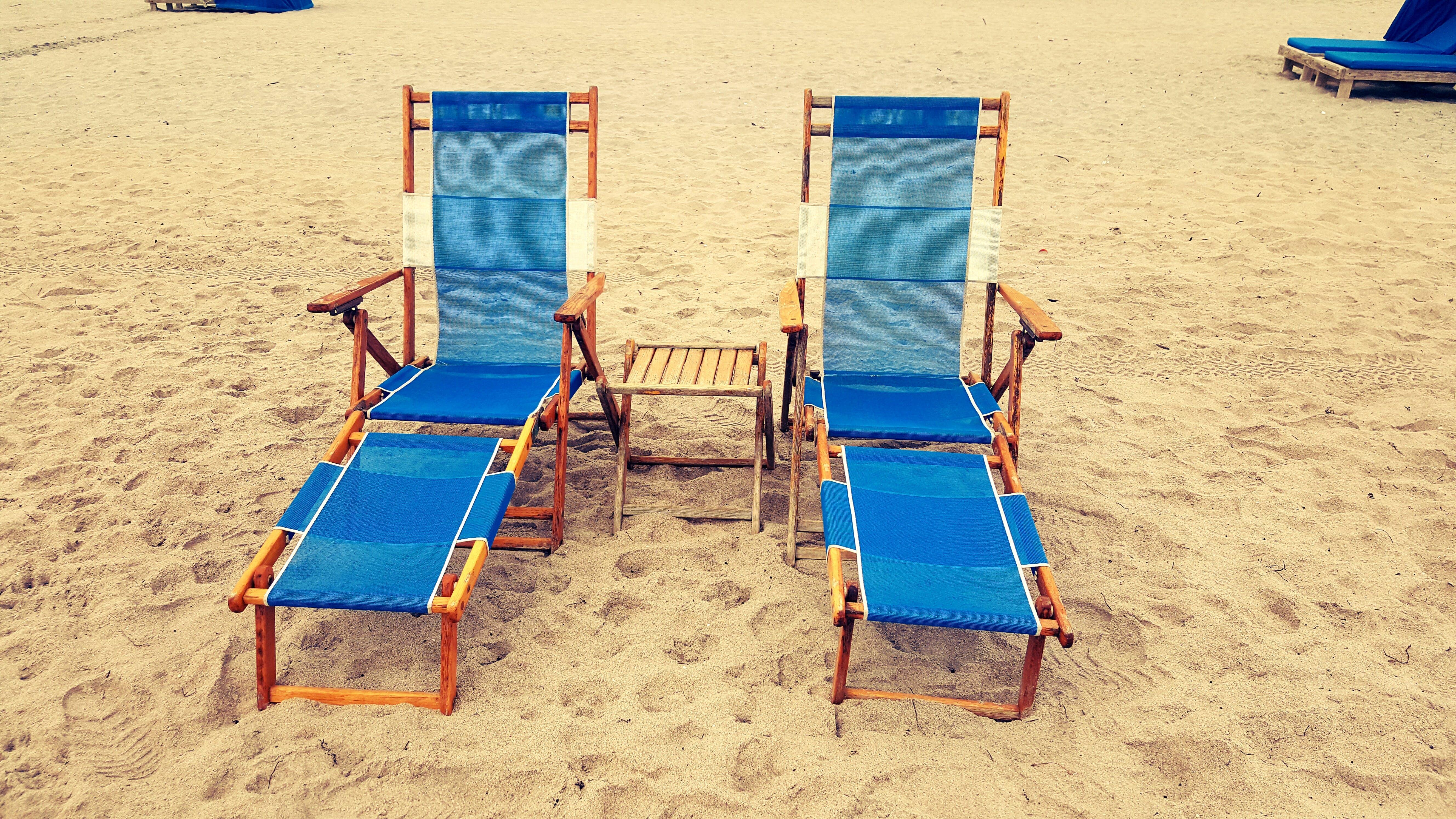 avslapping, blå, ferie