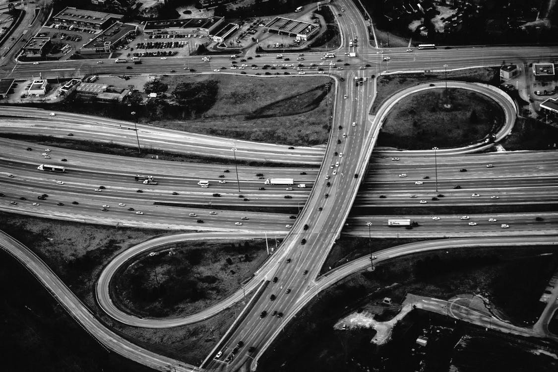 Greyscale Photography of Road