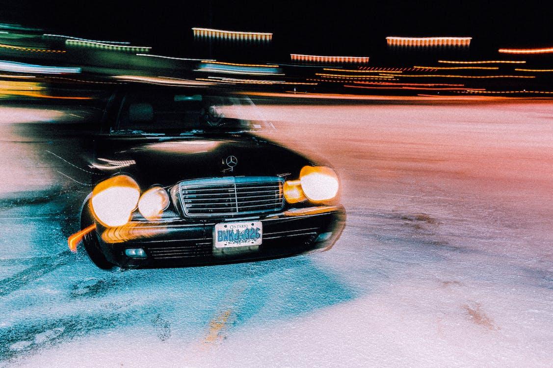 Mercedes Benz, автомобіль, асфальт