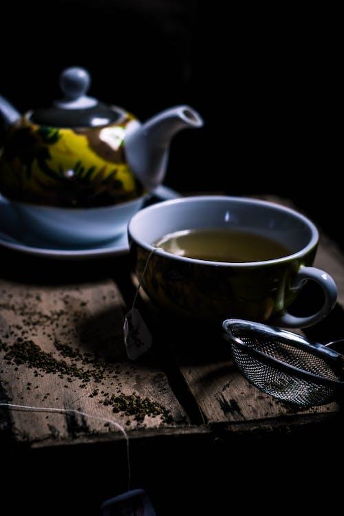 Grey and Yellow Tea Set