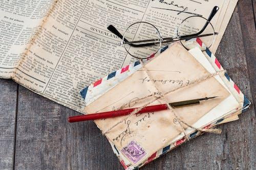 信封, 原本, 報紙, 專注 的 免費圖庫相片