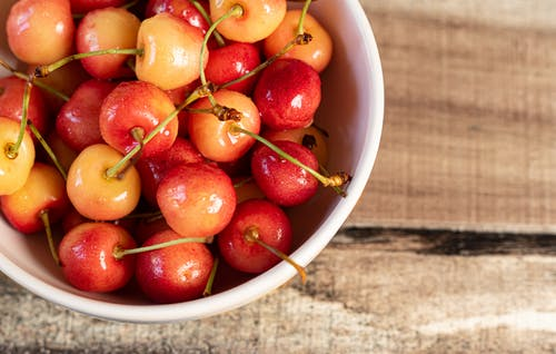 Close-Up Photo of Cherries in Bowl